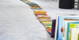Découvrez en vidéo la chute du domino de livres à la médiathèque