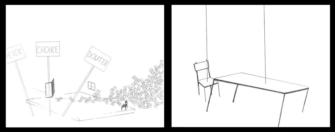 De l'autre côté - Autour du processus créatif de Yoann Bourgeois   Galerie Pictura