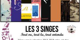 3 SINGES | Prix D'un livre à l'autre | Mercredi 18 Octobre 18h00 | Médiathèque